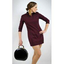 Elegancka sukienka Imperial - kolor czarny, bordowy