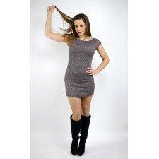 Koronkowa sukienka Lorenzo Milano - kolor beżowy, brązowy