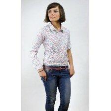 Koszula w drobne kwiatki- Euro Fashion