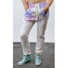Spodnie w kwiaty- Euro Fashion