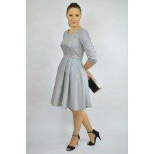 Sukienka rozkloszowana w pepitkę