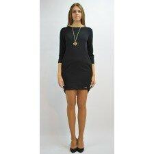 Sukienka z plisą z tyłu, czarna