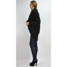 Zimowy, czarny sweter - oversize